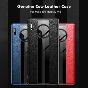Image 5 - Luxury Genuine Leather Case For Huawei Mate 30 Pro Case Leather Shockproof Back Cover funda Mate30 Pro Protector Case