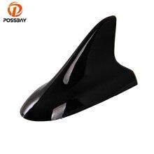 Possbay antena universal para carro, antena preta, barbatana de tubarão, decoração aérea para vw nissan honda bmw toyota