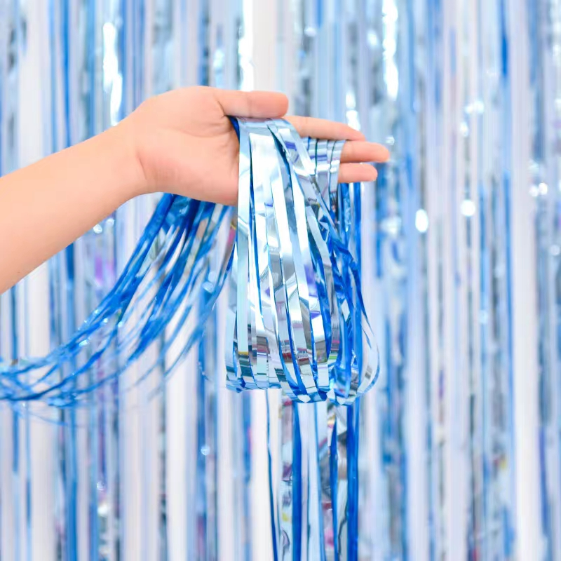 Image 3 - Party Favors Wedding Decoration Party Supplies Photozone Rain Tinsel Foil Curtain Birthday Party Wall Drapes Photo Zone BackdropParty Backdrops   -