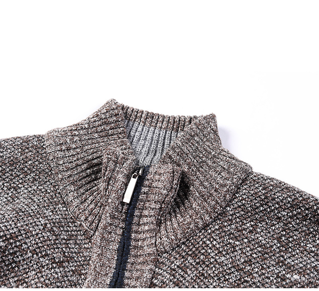 AIOPESON 2020 Autumn Winter New Men's Jacket Slim Fit Stand Collar Zipper Jacket Men Solid Cotton Thick Warm Jacket Men 4