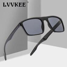 Lvkee novo design ultraleve polarizado óculos de sol homem motorista tons masculino vintage óculos de sol para homens spuare gafas de sol