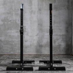 متعددة الوظائف الحديد القرفصاء الوقوف 8-Gear H ثمانية تعديل رفع الأثقال الحديد سبليت نوع رف القرفصاء القابل للتعديل الحديد شبه الإطار
