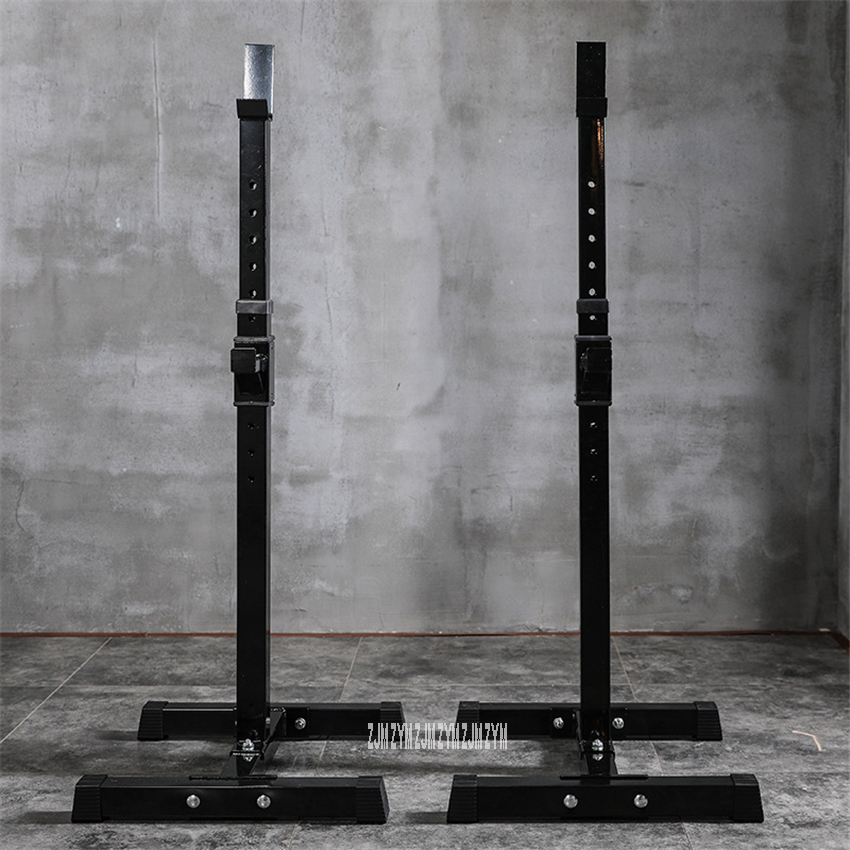 Multifunctional Barbell Squat Stand 8-Gear H Eight Adjustment Weight Lifting Barbell Split Type Squat Rack Barbell Semi-Frame
