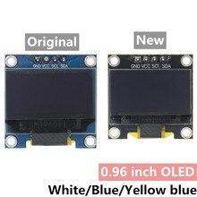 0.96 polegadas iic série 4pin branco/azul/amarelo azul/amarelo oled módulo de exibição 128x64 12864 lcd placa da tela para arduino oled