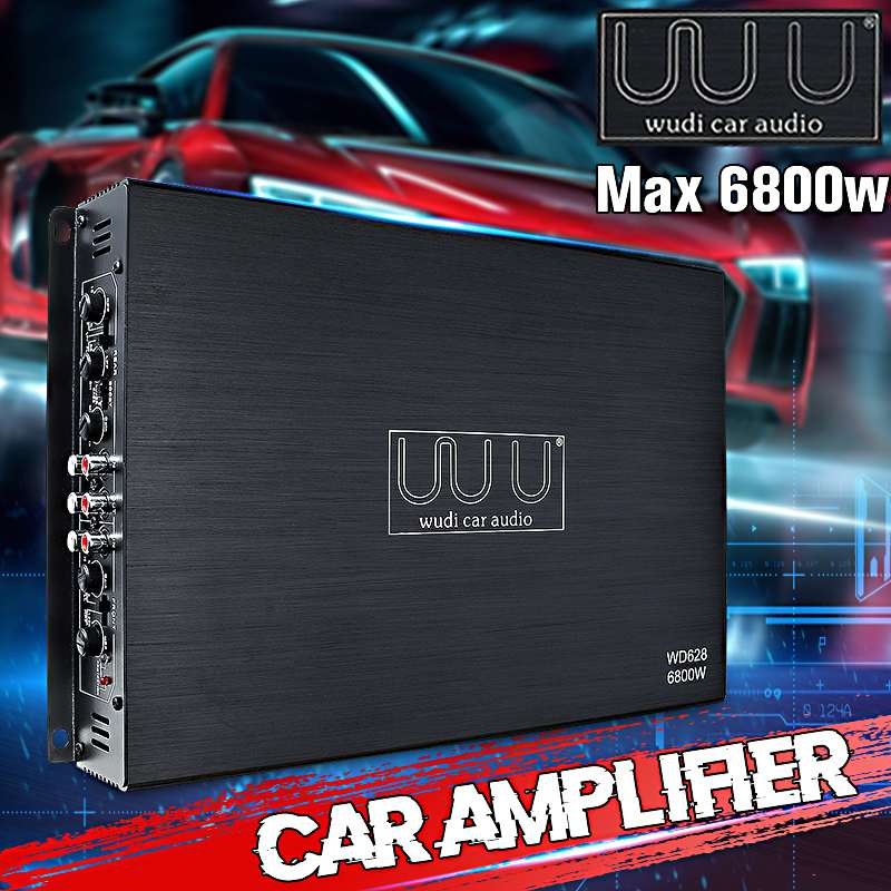 DC 12V 6800 Watt 4-Channel Car Amplifier Audio Stereo Bass Speaker Car Audio Amplifiers Subwoofer Car Audio Amplifiers