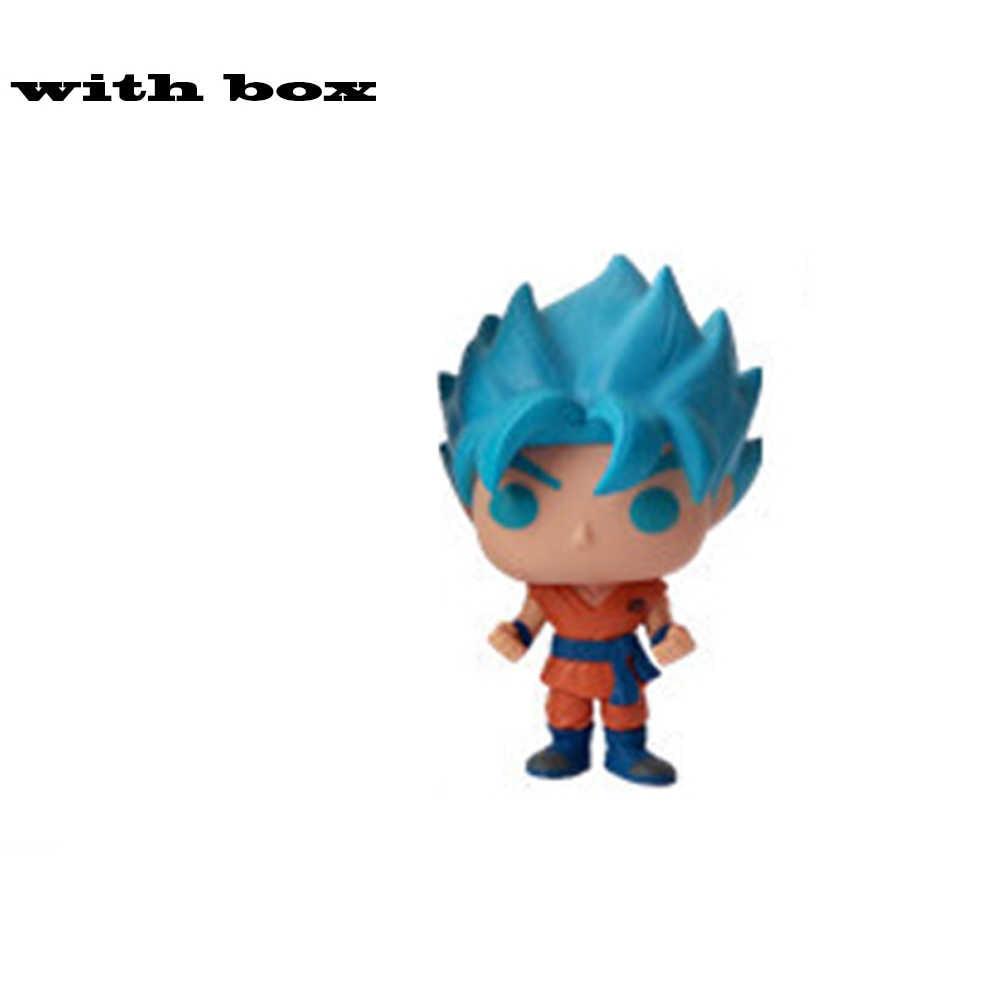 드래곤 볼 슈퍼 Porunga Saiyan Goku 슈퍼 베지터 도금 BEERUS Zamasu YAMCHA 비닐 그림 어린이를위한 새로운 상자