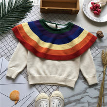 Tonytaobaby Fall and Winter Clothes New Style Baby Girls Rainbow Sweater Color GIRL'S Sweater(China)