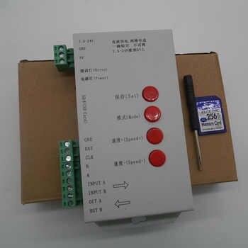 RGB full color Controller T1000S 2048 Pixels DMX 512 Controller SD Card WS2801 WS2811 WS2812B LPD6803 LED Strip DC5V 12V 24V