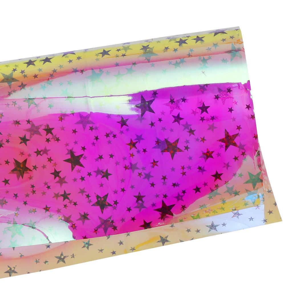 Darmowa wysyłka 15x10.5cm 30x20cm 1PC folia biżuteria z żywicy rzeczy gwiazda tęczy naklejki laserowe Film DIY epoksydowe silikonowe formy napełniania