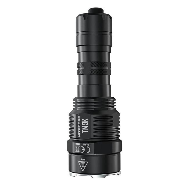 NITECORE TM9K Tactical Flashlight 9 XP L HD V6 LEDs max 9500 Lumen throw 268M built in 21700 5000mAh battery USB Charging Torch