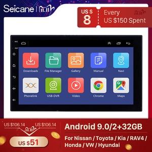 Image 1 - Seicane 2Din Android 9.1 Car Radio Stereo Multimedia Player GPS Navi For Universal TOYOTA Nissan Kia RAV4 FJ CRUISER ALPHARD
