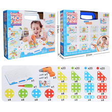 Children Toys Building-Toy Electric-Drill Design Boys Nut for Blocks-Sets Assembled Disassembly-Match-Tool