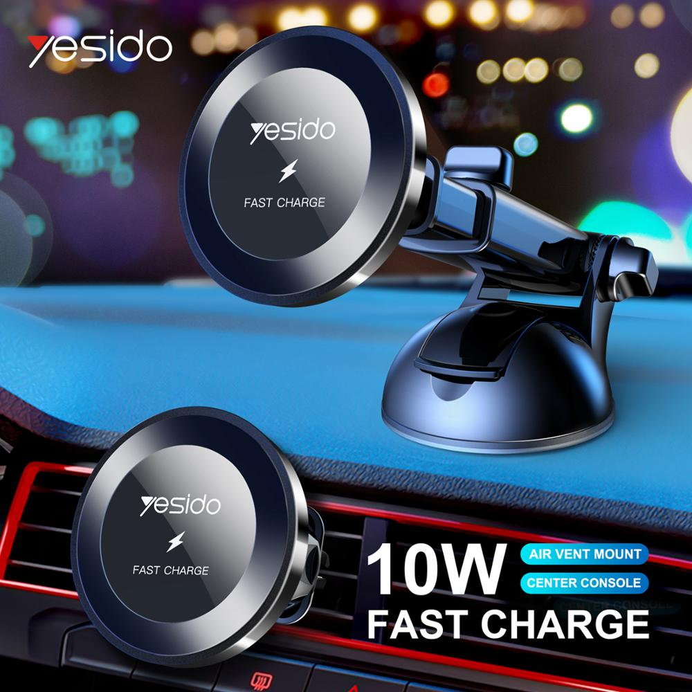 Yesido Car-Charger iPhone 11 Fast Samsung Wireless Qi Pro-Max 10W No for Samsung/Intelligent/Infrared/Fast title=
