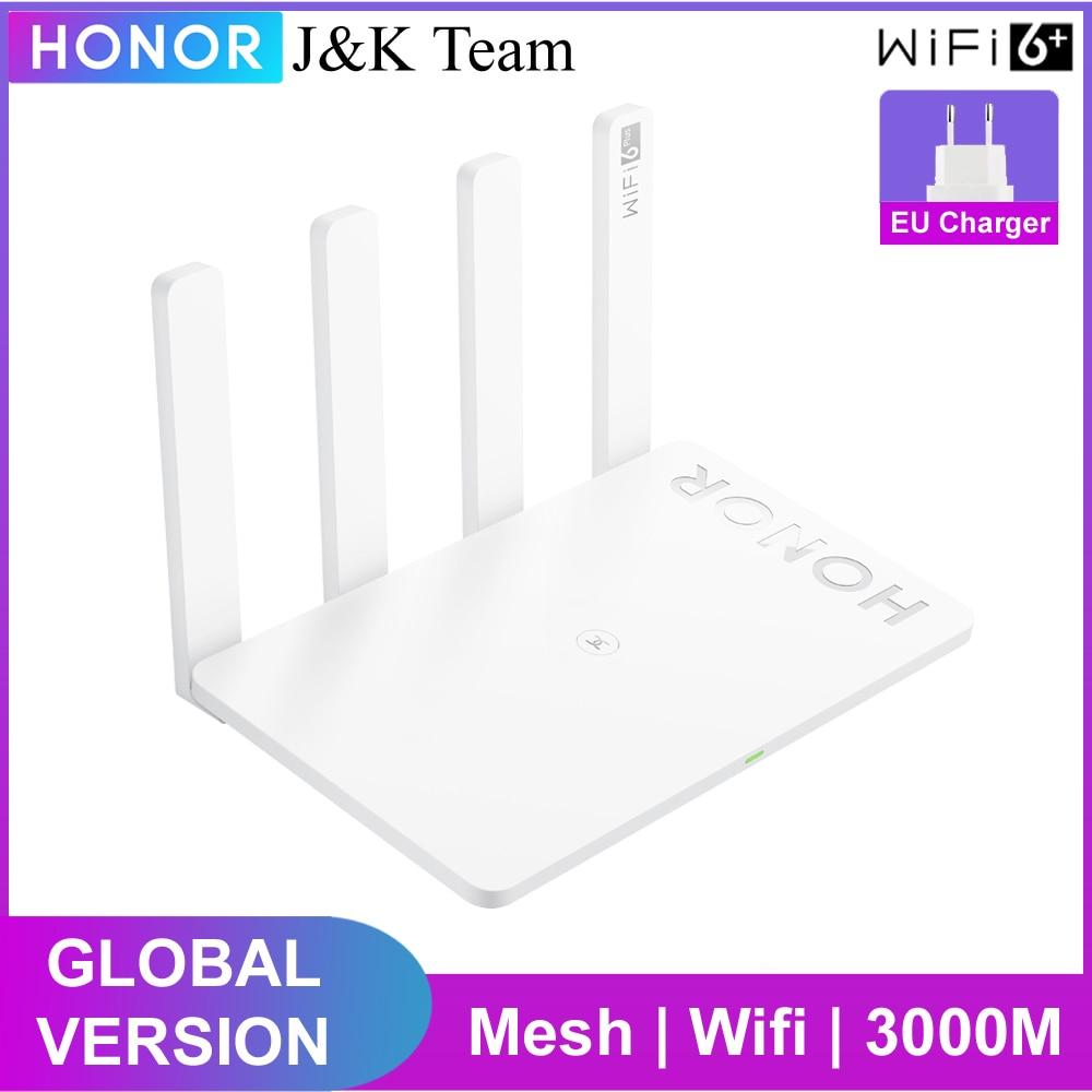 Huawei Honor Router 3, глобальная версия, беспроводной маршрутизатор Wi-Fi 6 plus сетки Wi-Fi 5 ГГц 3000 Мбит/с расширитель Wi-Fi Умный дом простая настройка