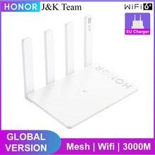 Huawei honor Router 3, versão global, roteador sem fio, wifi 6 plus malha wifi 5ghz 3000mbps wi-fi extensor casa inteligente fácil configuração