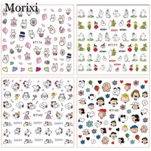 Nail art sticker with back glue for kids nail decoration DIY manicure foil ultra thin Cartoon animals printing nail wraps WG015 3d nail art fimo soft polymer clay fruit slices cartoon for nail manicure sticker cell phones diy designs wheel decoration czp35