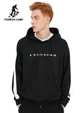 פיוניר מחנה שחור כותנה נים לגברים 2020 סתיו חדש אופנה מזדמן היפ הופ בגדי הסווטשרט בסוודרים Hoody זכר AWY902337