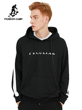Pioneer Camp สีดำฝ้าย Hoodies สำหรับชาย 2020 ฤดูใบไม้ร่วงใหม่แฟชั่นสบายๆ Hip hop เสื้อผ้า Hoodie Pullover Hoody ชาย AWY902337