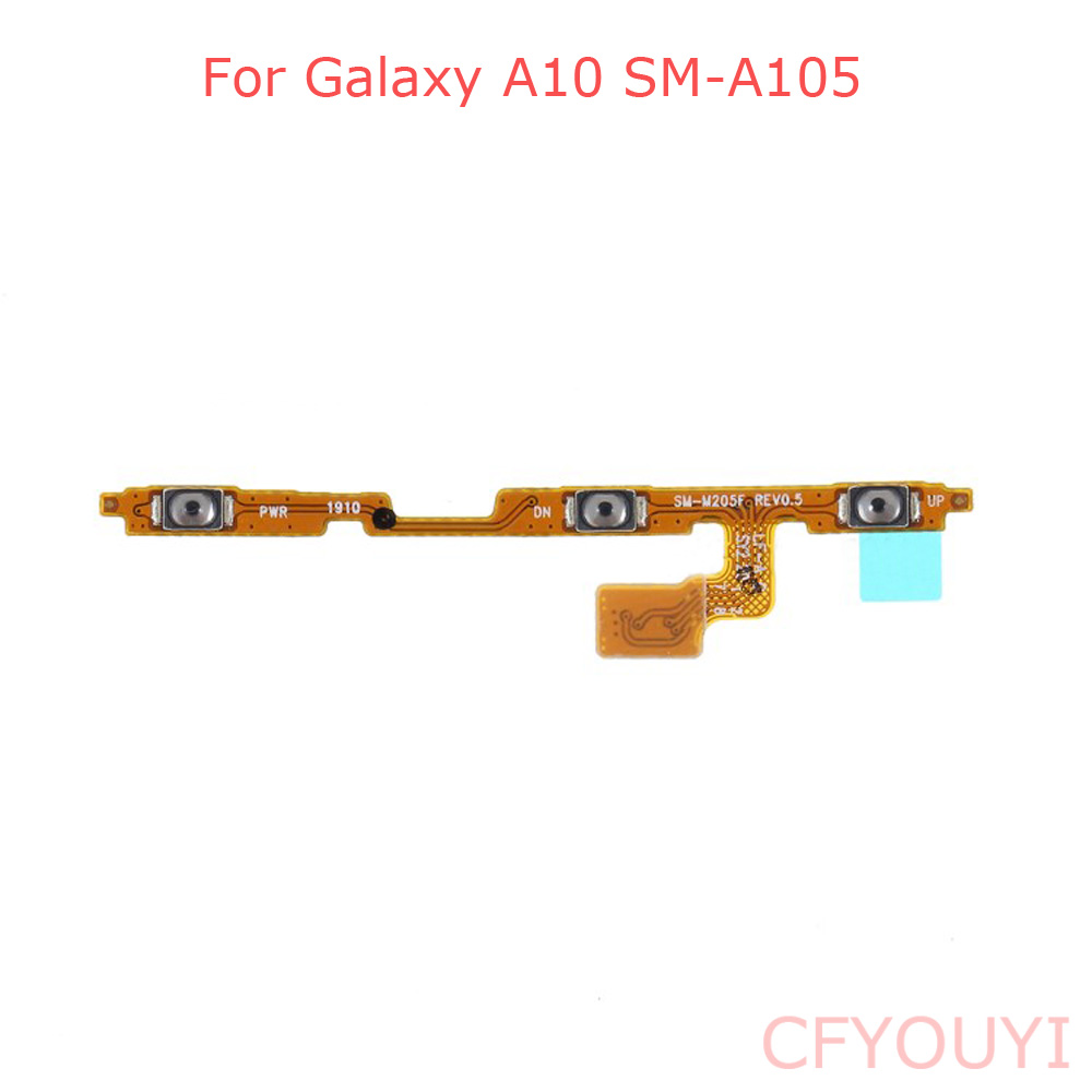 For Samsung Galaxy A10 A105 A105F Power & Volume Buttons Side Key Flex Cable Part