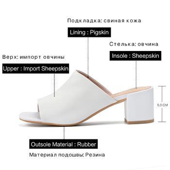 Donna-in Clearance Genuine Leather Slippers Women Summer Shoes Outside Flat Bottom Women Platform Wedge Beach Flip Flops Sandals 2