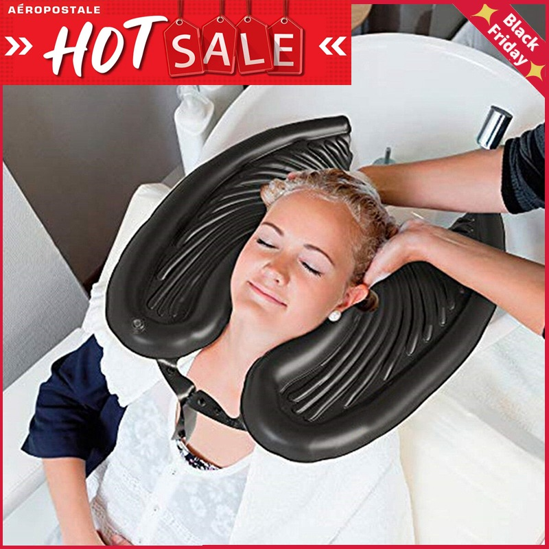 Portable Shampoo Sink Hair At Home Folding Hairdressing Head Tray For Washing Hairdresser Basin Bowl Patient Elderly Inflatable