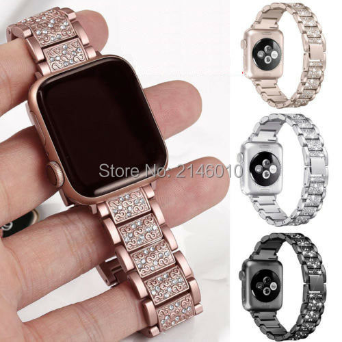 Diamond Stainless Steel Band Bracelet IWatch Strap For Apple Watch Series 4 3 21