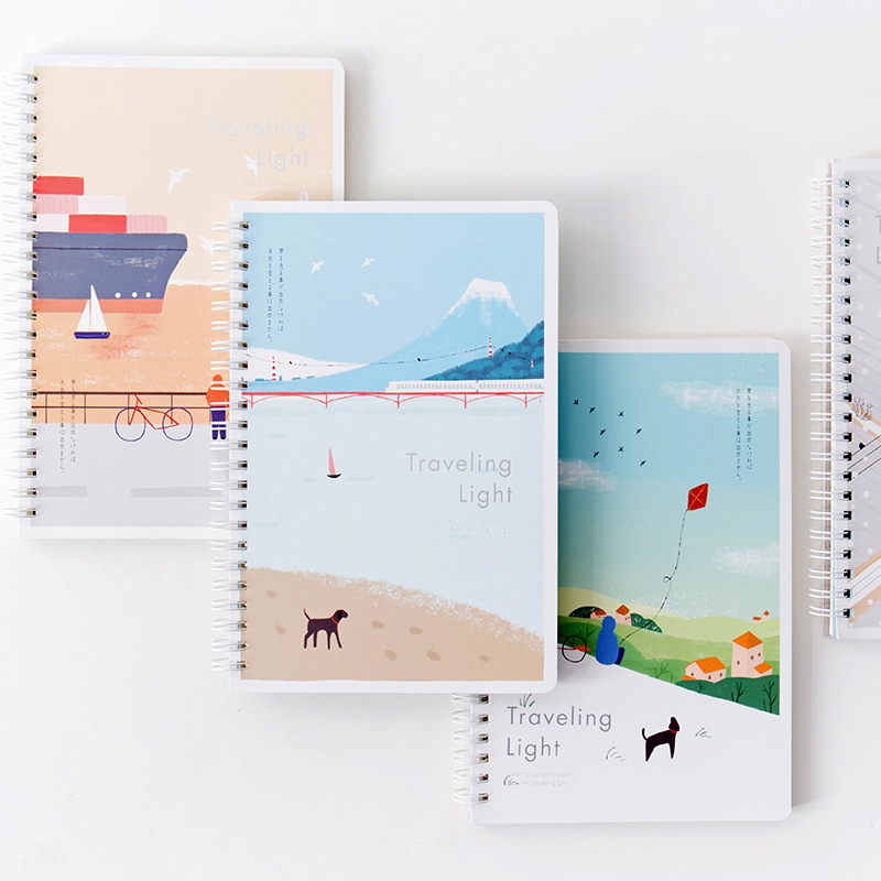 Joytop <font><b>B5</b></font> on the Go Flip Coil <font><b>Notebook</b></font> Inner Pages with Horizontal <font><b>Lines</b></font> Laptop Simple Creative <font><b>Notebook</b></font> Customizable Wholesale image