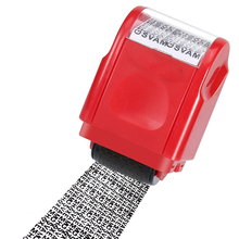 Identity Privacy Protection Roller Stamp Information Coverage Data Protector Messy Code Roller Stamps Roller Stamp Messy Code chaotic soul messy heart
