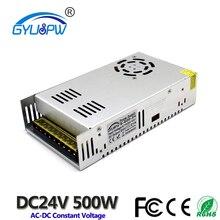 Küçük hacimli 24V 21A 500W anahtarlama güç kaynağı trafo 110V 220V AC DC24V SMPS led şerit işık CNC CCTV 3D yazıcı