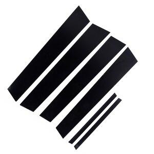 Image 1 - 6 шт., покрытие для автомобильных стекол, черный зеркальный эффект, для Honda Civic 2006 2011