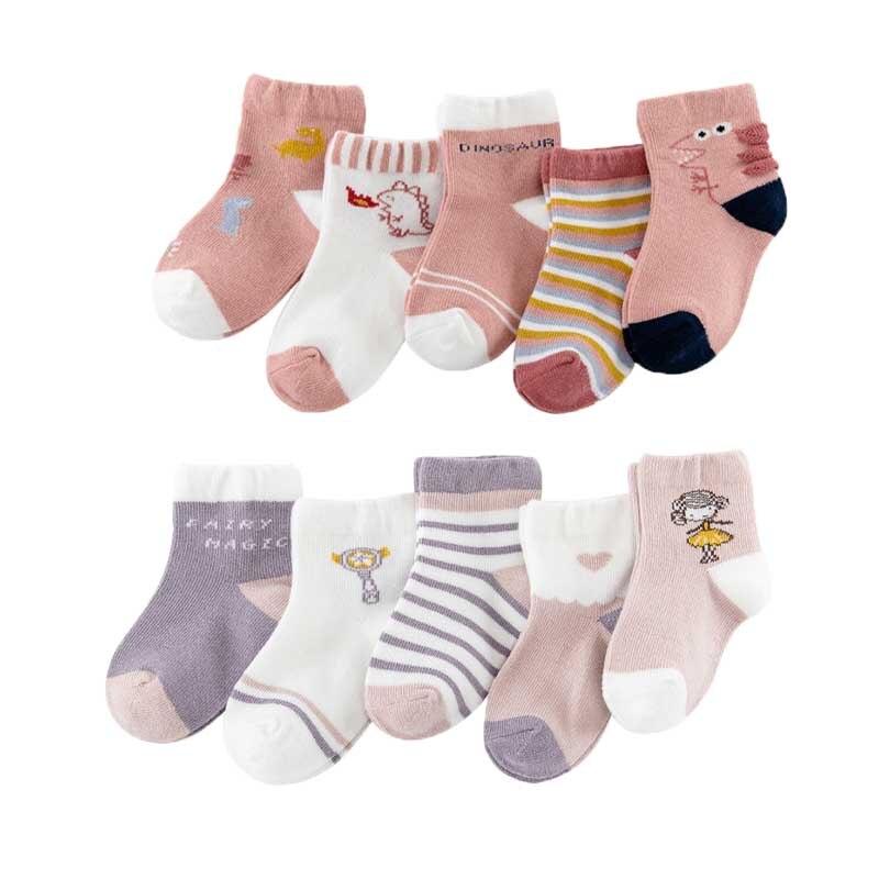 10Pairs/Lot Baby Boys Socks Spring Autumn Cotton Newborn Baby Girls Socks Fashion Casual Kids Socks for Children Age for 1-12Y 2
