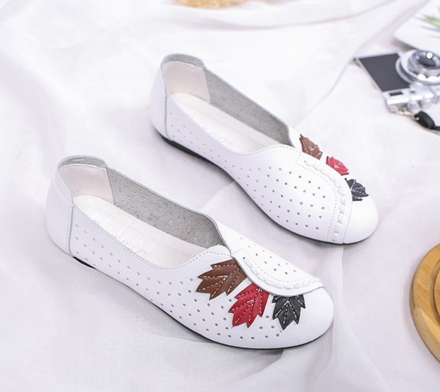 Women Shoes Loafers Women Flats Moccasins Shoes Woman Genuine Leather Shoes Flats Slip On Women's Flat Shoes
