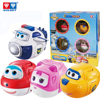 AULDEY Super Wings set twisted toy blind box toy deformation robot Ledi and Xiaoaihe bag police give children birthday gifts image