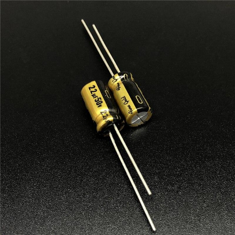 10Pcs/100Pcs 22uF 50V NICHICON FG(Fine Gold) 6.3x11mm 50V22uF Top Grade Audio Capacitor