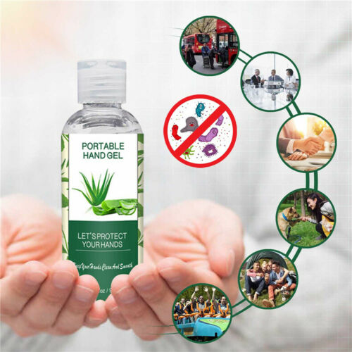 90ML Alcohol Hand Gel 75% Kills 99% Bacteria Disposable Portable Hand Cleaning Wash Spray Auto Interior Cleanser