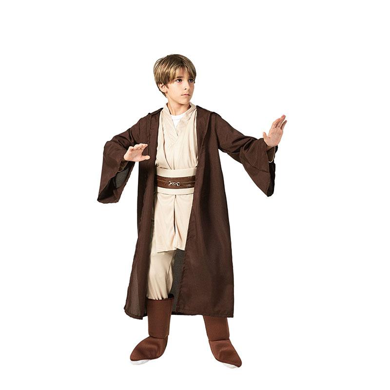 Star Wars Jedi Knight Cosplay Costume Boys Girls Kids Bodysuit Robe Pants Set