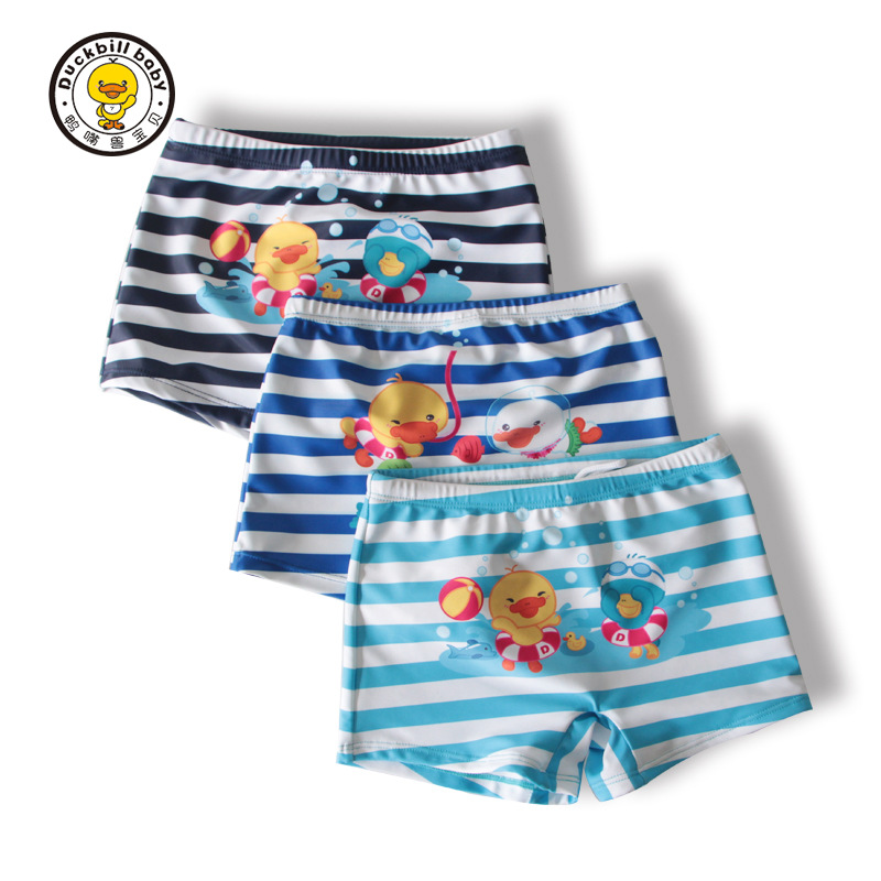2018 New Style Platypus Item Cartoon Children Tour Pants Children Stripes Lace-up Boxers Manufacturers Direct Selling Foreign Tr