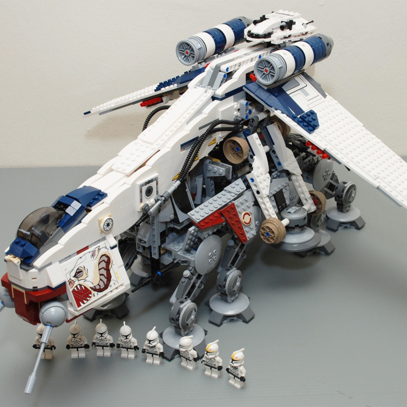 Star war Republic Dropship with AT-OT Walker vehicles lepining 05053 Building Block Brick toys kids gift <font><b>10195</b></font> image