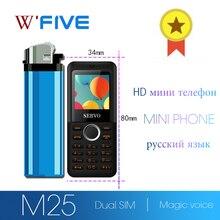 SERVO M5 HD мини мобильный телефон Bluetooth номеронабиратель волшебный звук мобильного телефона рекордер в одно касание мобильный телефон двойной карточки вибрации русский маленький мобильный телефон