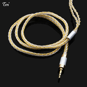 Image 5 - Cable de auriculares Chapado en plata de 8 núcleos, 2,5mm/3,5mm a 0,75mm, 0,78mm, conector mmcx de 2 pines, Cable de actualización Hifi
