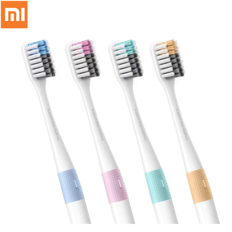 4pcs Xiaomi New Brand Doctor B Bass Method Travel Soft Bristle Toothbrush 4 Colors 4 Pcs /set Include Travel Box for Smart home image