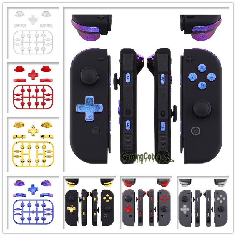 Custom Replacement D-pad ABXY Keys SR SL L R ZR ZL Trigger Full Set Buttons W/ Tools For Nintendo Switch Joy-Con