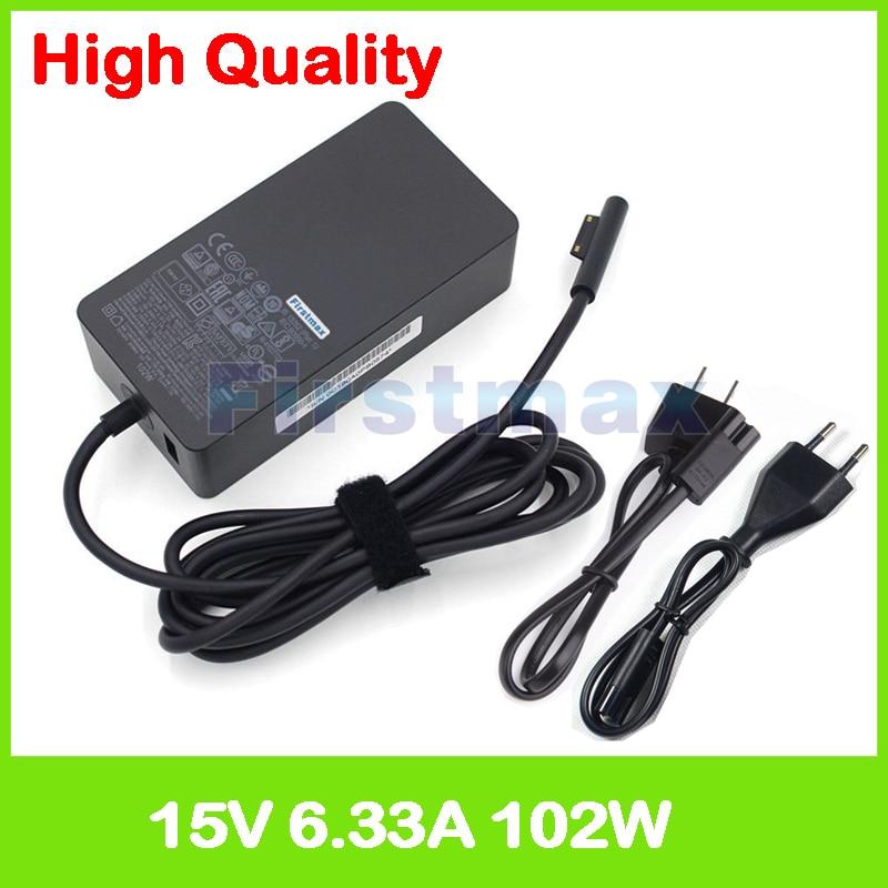 15V 6.33A 102W chargeur pour ordinateur portable 1798 adaptateur secteur pour Microsoft Surface Book 2 13.5 pouces Core i7 i5 Modèle 1832 1835 15