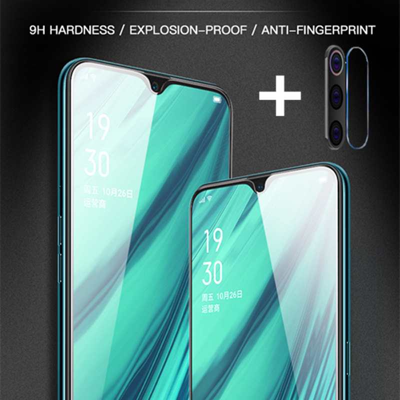 2 In 1 Full Cover 9D Tempered Glass For Redmi 7 8 7A 8A  Note 7 8 Pro 8T Xiaomi A3 Lite Cc9 Pr Protective Screen Protector Film