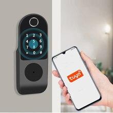 Электронный дверной замок tuya для дома умный со сканером отпечатка