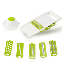 Multi-function Manual Vegetable Cutter Stainless Steel Slicer Carrot Potato Peeler Cheese Grater Onion Slicing Kitchen Tools