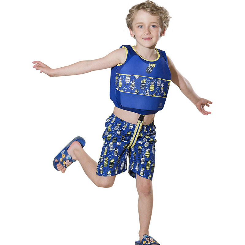 2019 New Style Children Buoyancy Short Sleeve And Swimming Shorts Set Outdoor Sports Learning Fu Li Yi