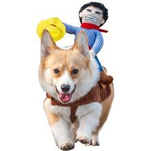 Одежда для домашнего питомца Косплэй ковбой, наездник Стиль собака Забавный костюм одевание Хэллоуин фестиваль рождественские