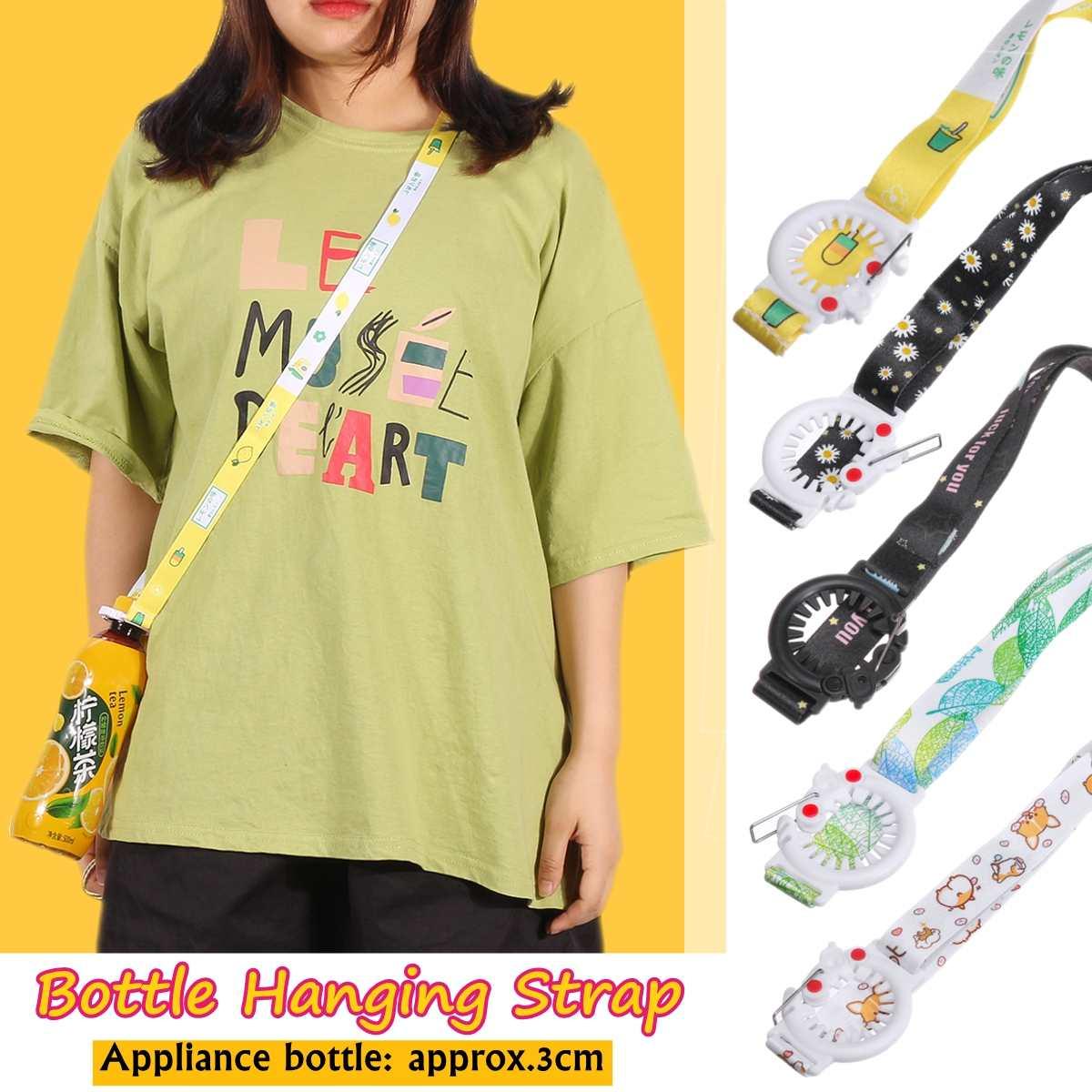 Portable Water Shoulder Strap Bottles Rope Beverage Buckle Holder Lanyard U1P9