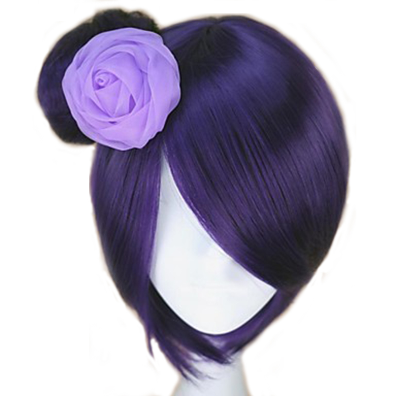 HAIRJOY Synthetic Hair  Naruto Konan Purple Cosplay Wig  Heat Resistant Fiber